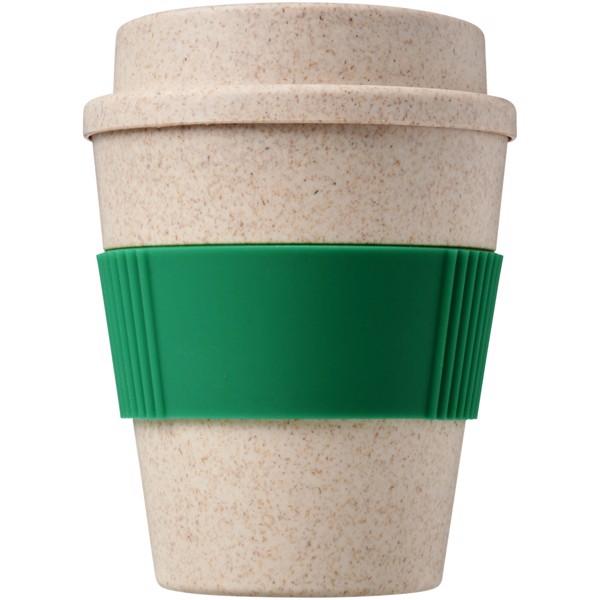 Oka 350 ml Becher aus Weizenstroh - Grün