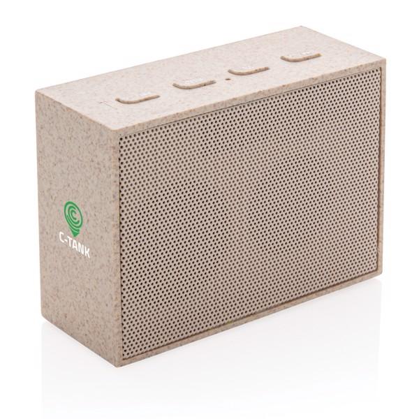 3W-os mini hangszóró búzaszárból