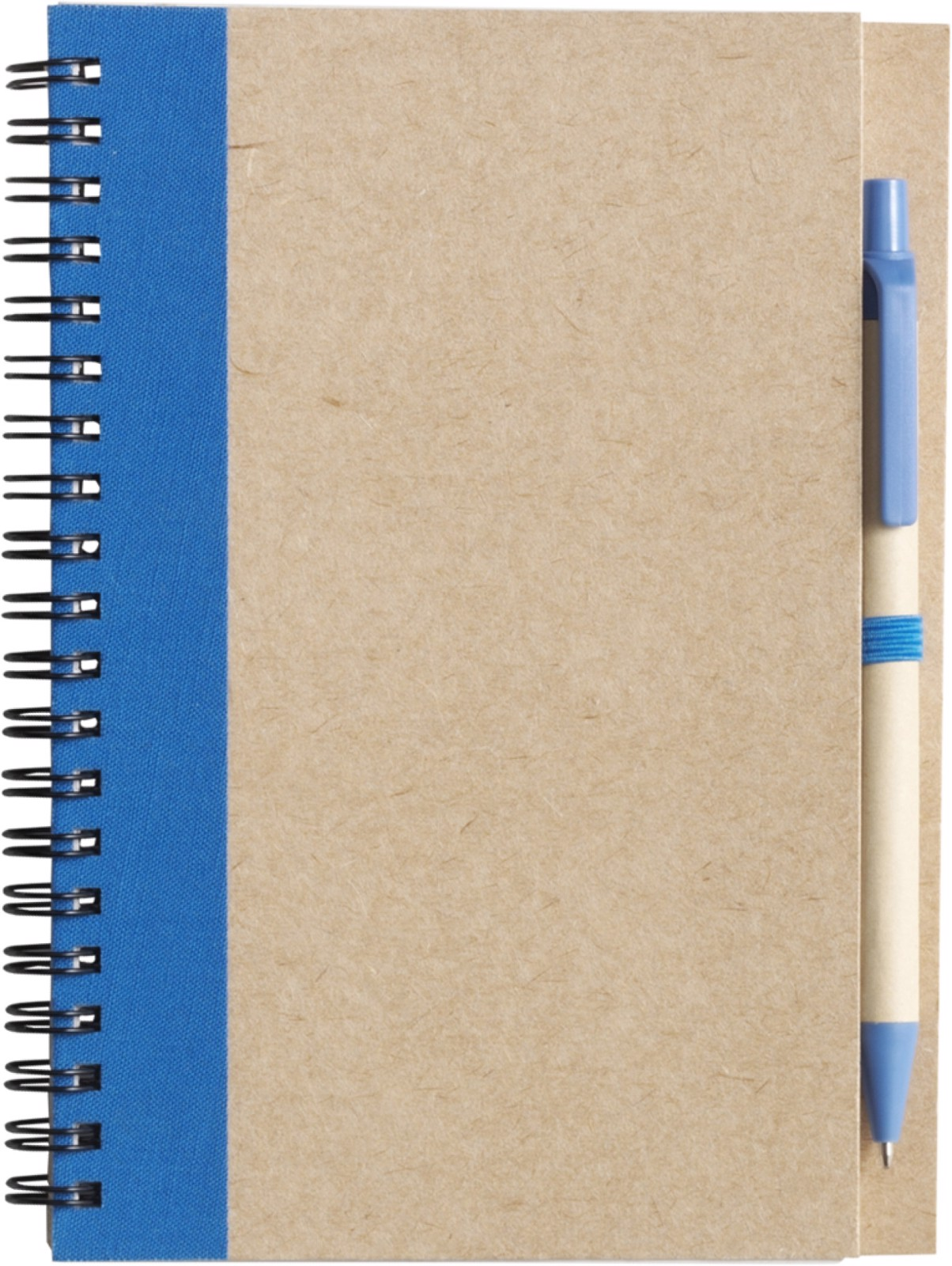 Wire bound notebook with ballpen. - Light Blue