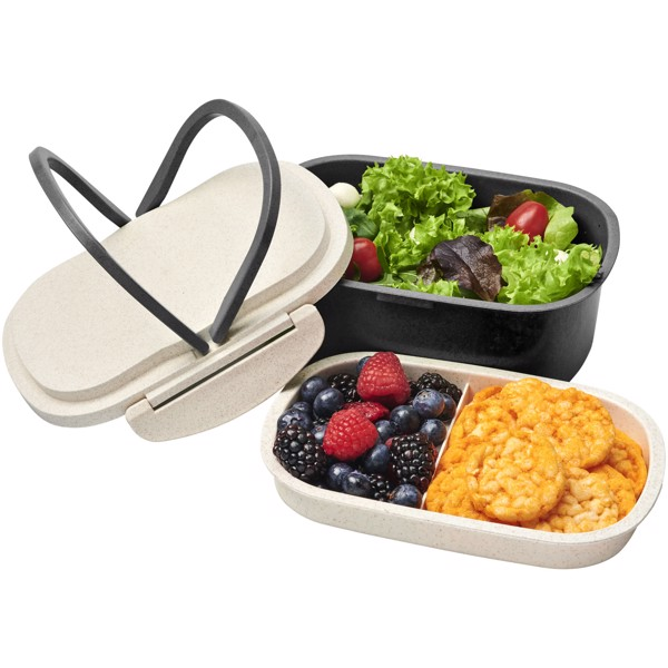 Crave wheat straw lunch box - Solid black