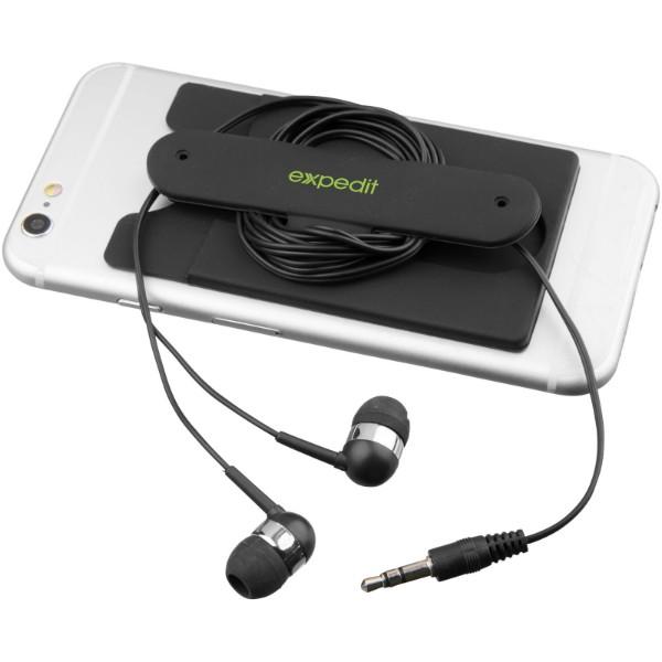 Wired Ohrhörer und Silikon Telefonhülle - Schwarz