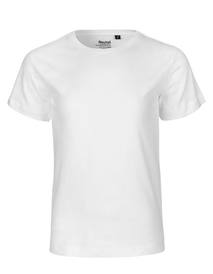 Kids` Short Sleeve T-Shirt - White / 116/122