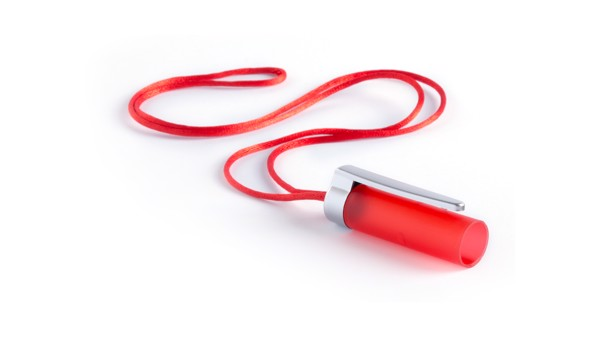 Bolígrafo Linterna Mustap - Gris / Rojo