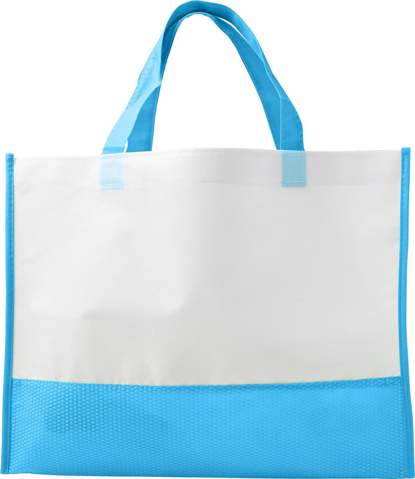 Nonwoven (80 gr/m²) shopping bag - Light Blue