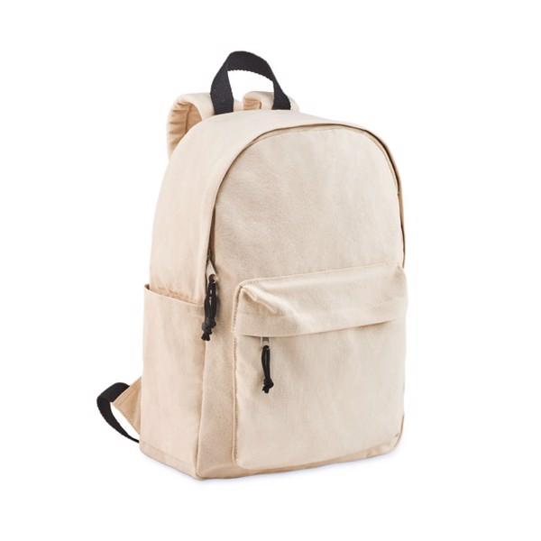 Backpack in canvas 340 gr/m² Balpal + - Beige