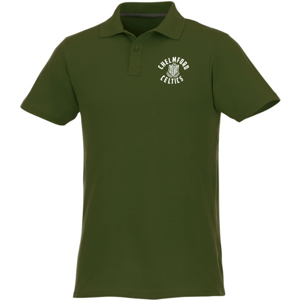 Helios short sleeve men's polo - Army green / XL