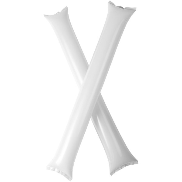 Cheer 2-piece inflatable cheering sticks - White