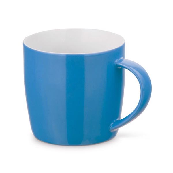 COMANDER. Taza de cerámica 370 ml - Azul Claro