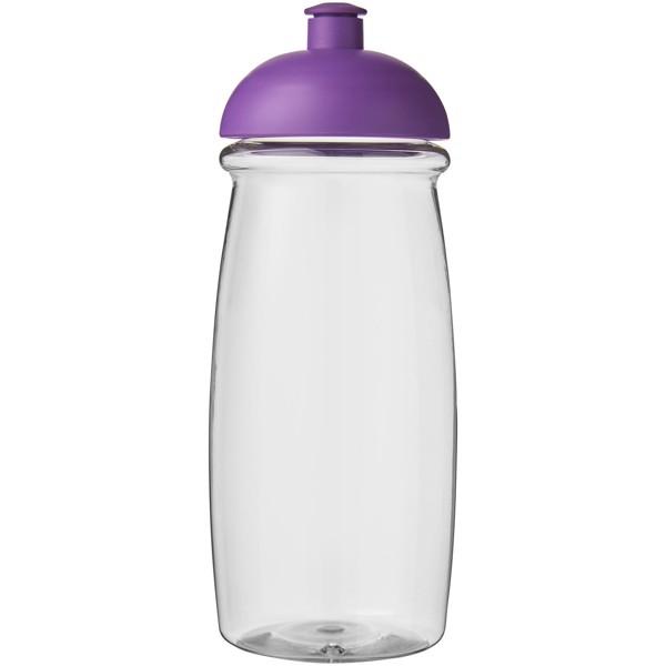 Sportovní láhev s kupolovitým víčkem H2O Pulse® 600 ml - Průhledná / Purpurová