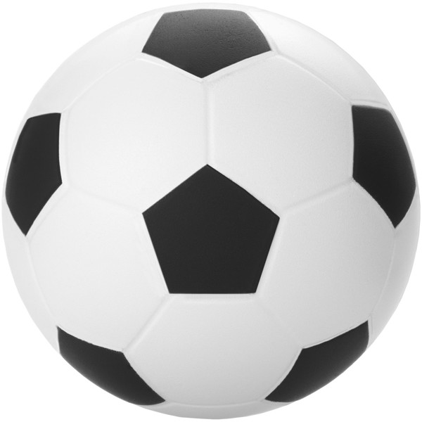 Football stress reliever - Solid black / White