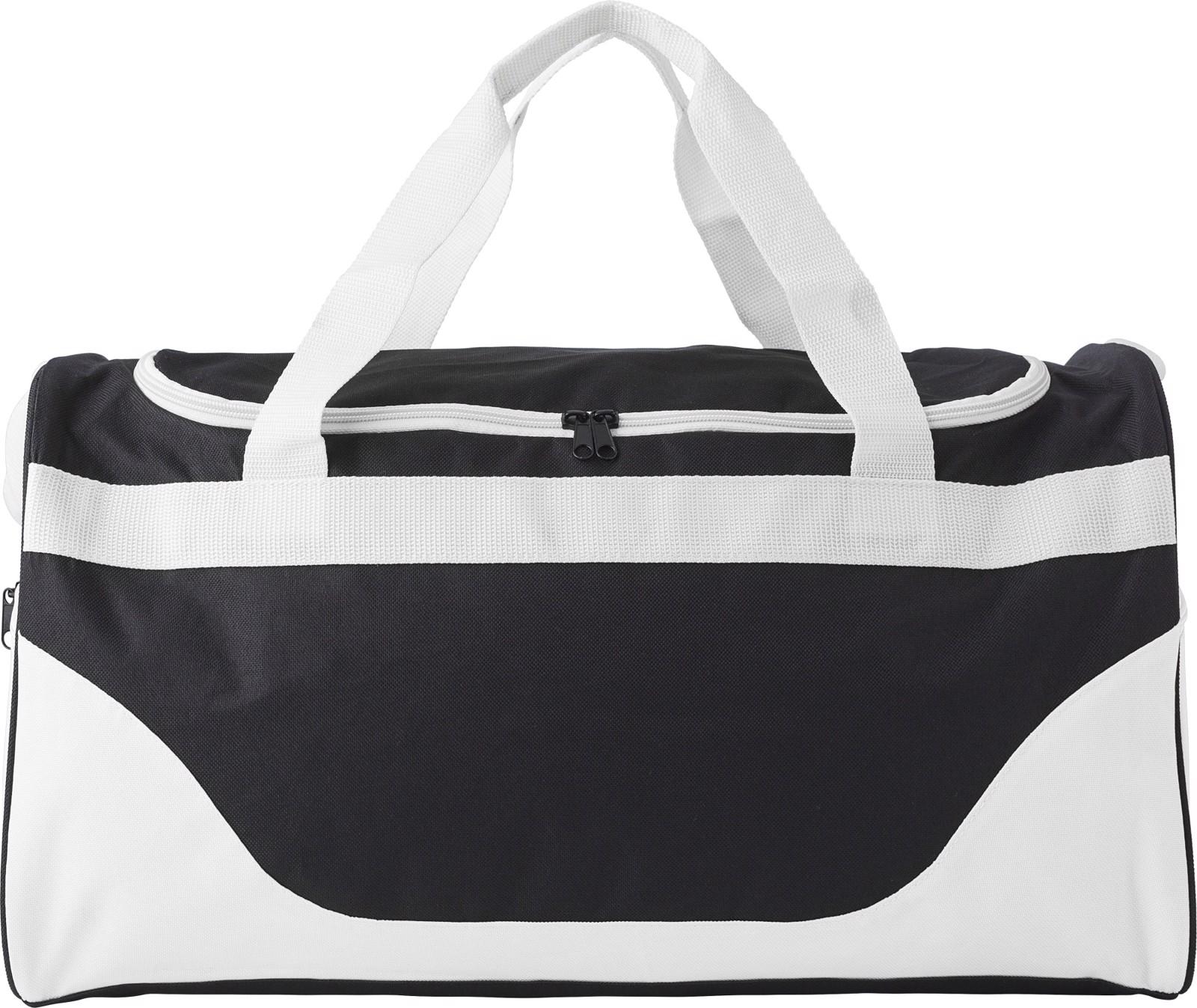 Polyester (600D) sports bag - White
