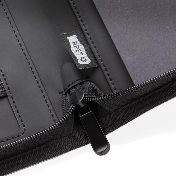 Air 5W-os vezeték nélküli töltős A4 mappa 5000 mAh powerbank - Fekete