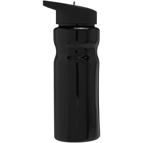Sportovní láhev s víčkem s hubičkou H2O Base® 650 ml - Černá