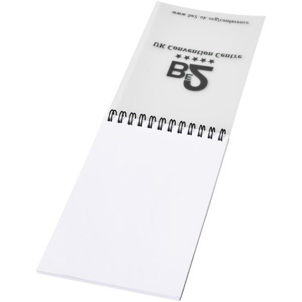 Poznámkový blok Rothko A6 - Čirá s efektem námrazy / Černá / 50 pages