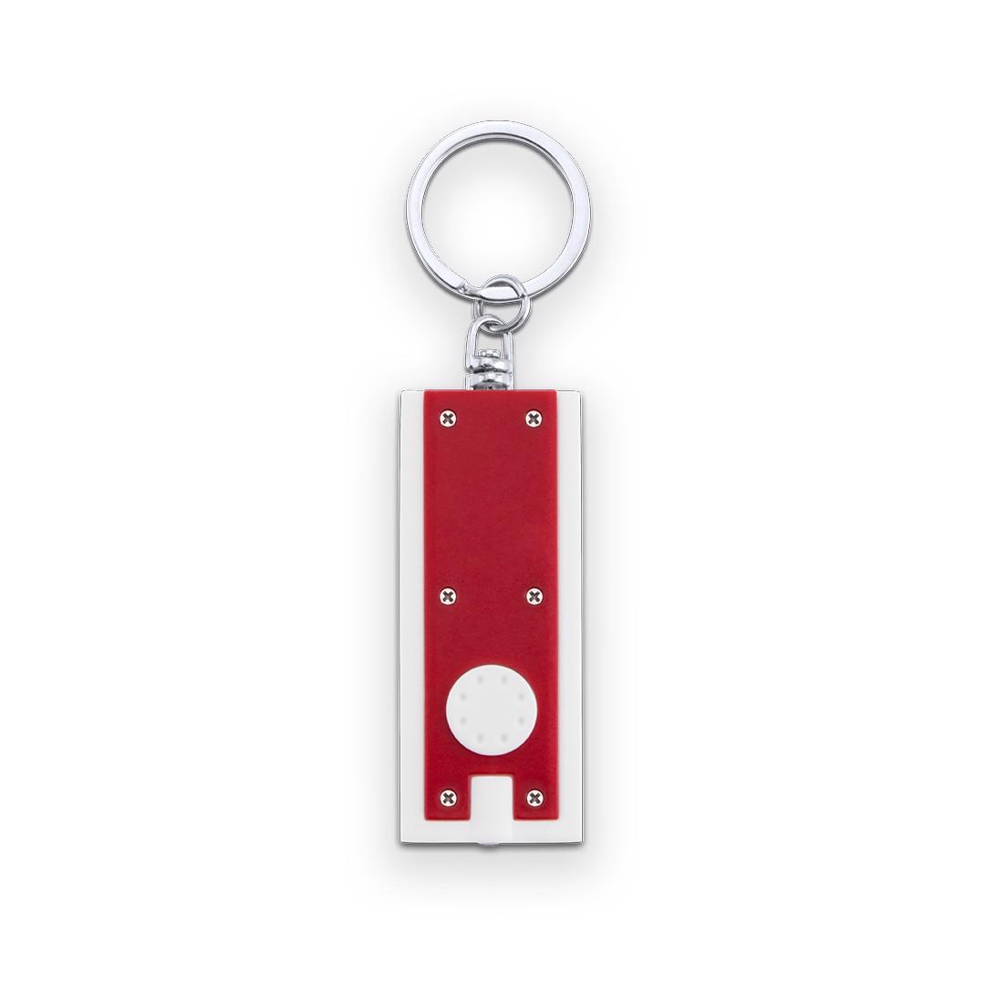 Llavero Linterna Shika - Blanco / Rojo