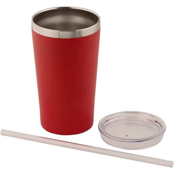 Vakuový termohrnek Thor - Červená s efektem námrazy
