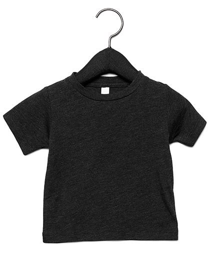 Baby Triblend Short Sleeve Tee - Charcoal-Black Triblend  / 12-18 months
