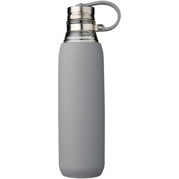 """Botella de cristal de 650 ml """"Oasis"""" - Gris"""