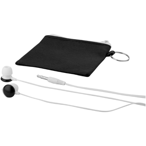 Star lightweight earbuds - Solid black / White