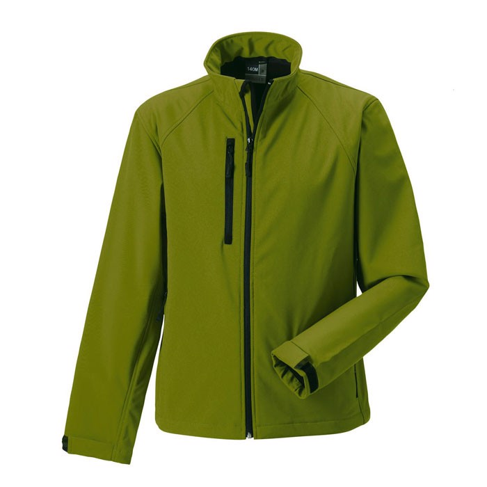 Men's Softshell 340 g/m2 Soft Shell Jacket R-140M-0 - Cactus / XL