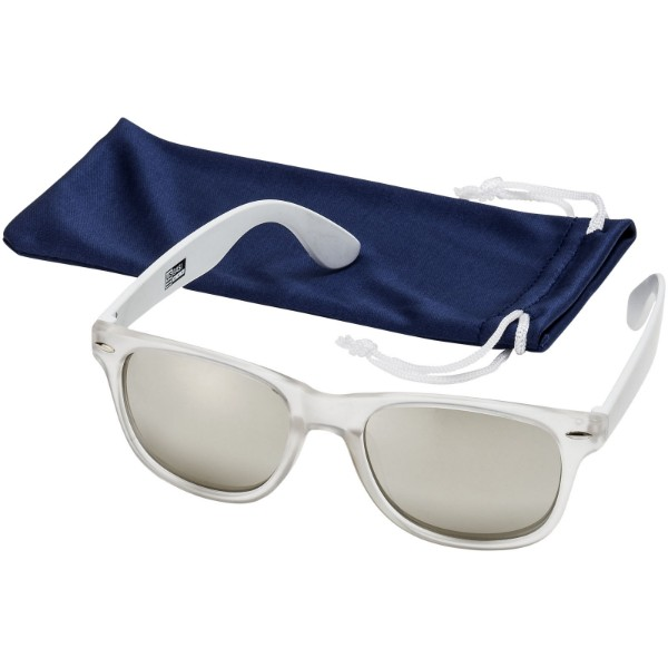 California exclusively designed sunglasses - White / Transparent clear