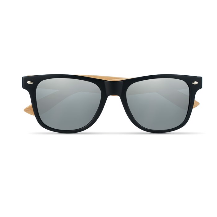 Sunglasses with bamboo arms California Touch - Shiny Silver