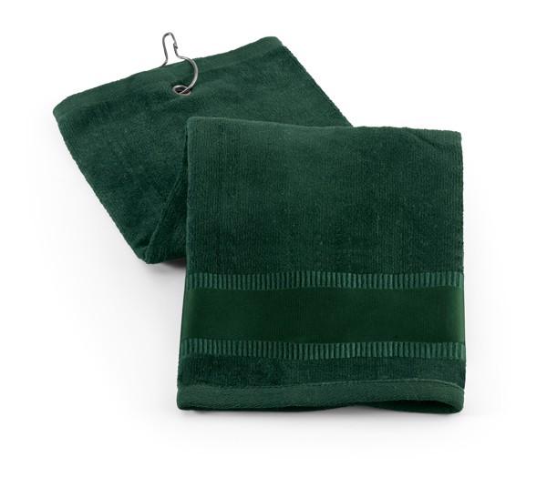 GOLFI. Golf towel in cotton - Dark Green