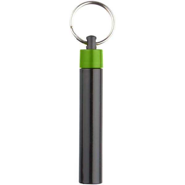 Retro premium LED keychain light - Green / Solid black