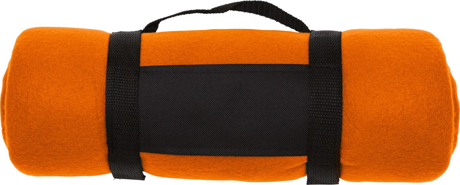 Polar fleece (170-180 gr/m²) blanket - Orange