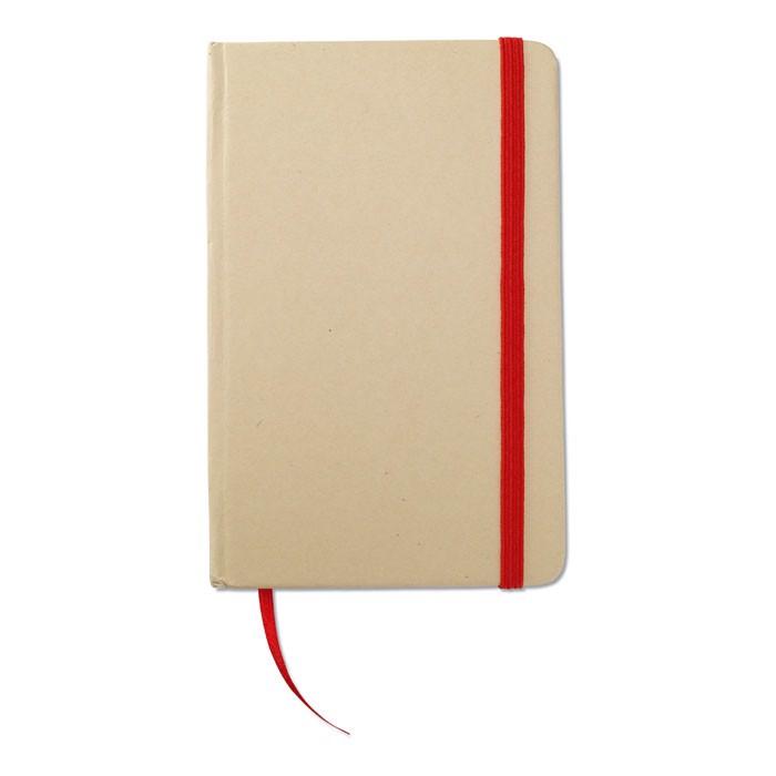 Libreta material reciclado Evernote - rojo