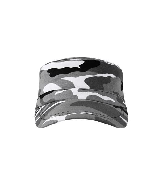 Cap unisex Malfini Camo Latino - Camouflage Gray / adjustable