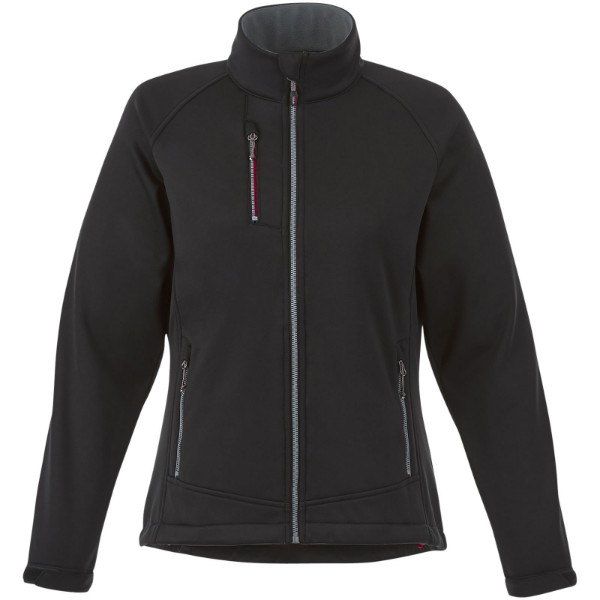 Chuck women's softshell jacket - Solid black / L
