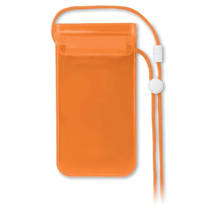 Wodoodporne etui na smartfon Colourpouch - przezroczysty pomarańczowy