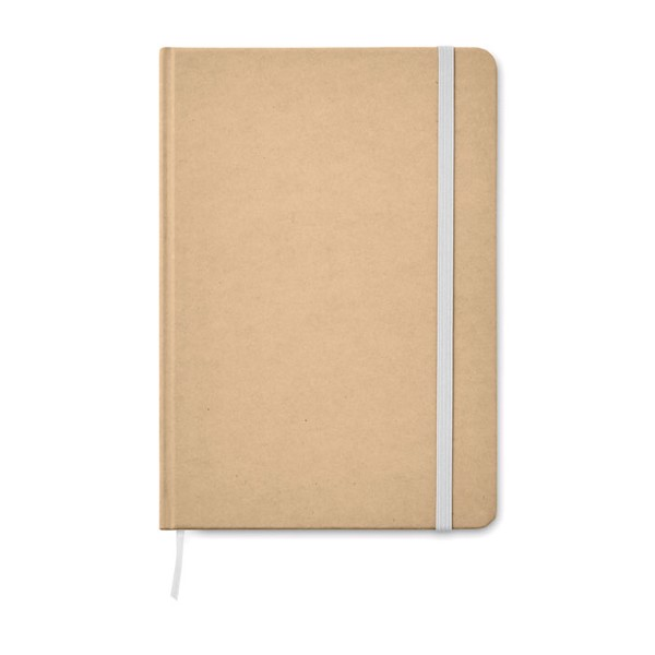 A5 Notebook recycled carton Everwrite - White