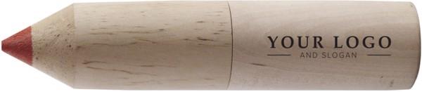 Tubo de cartón con lápices