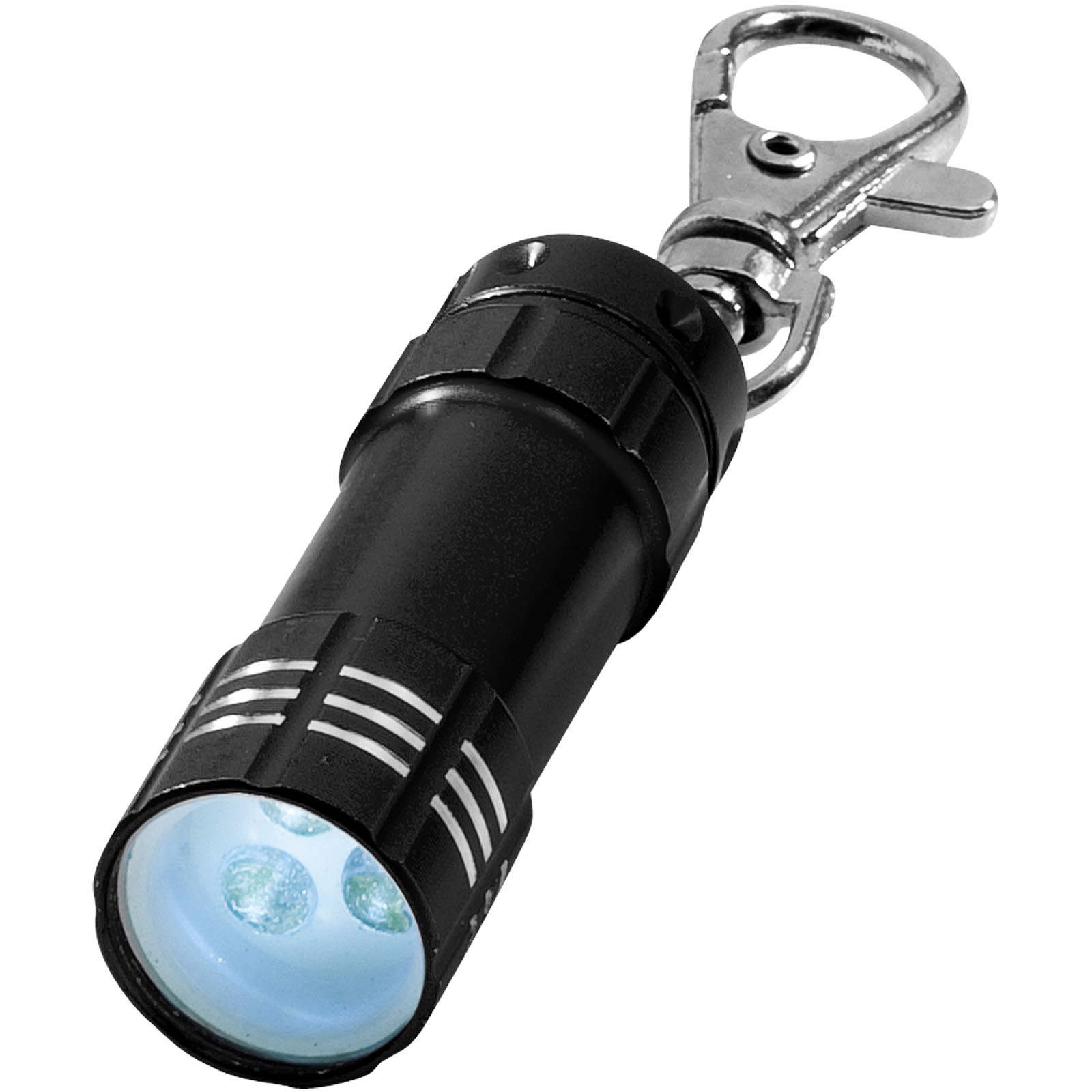 Klíčenková LED svítilna Astro - Černá