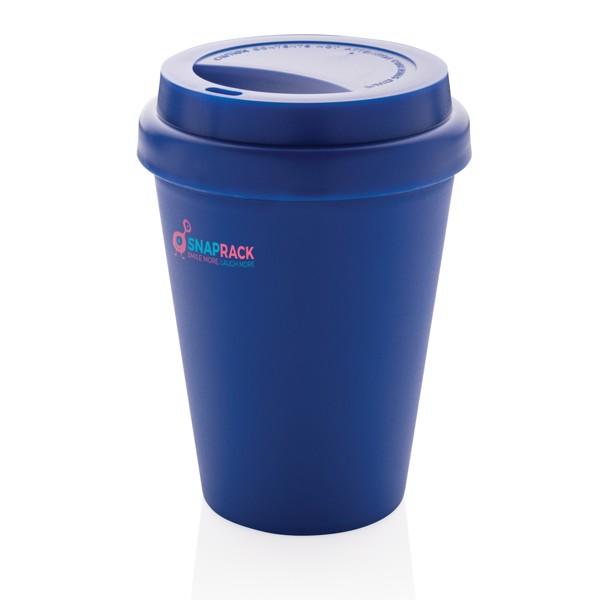 Többször használatos, duplafalú kávésbögre 300 ml - Kék