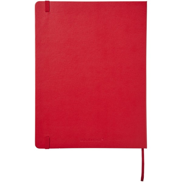 Classic XL hard cover notebook - squared - Scarlet red