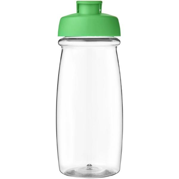 H2O Pulse® Bidón deportivo con Tapa Flip de 600 ml - Transparente / Verde