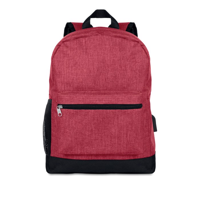 600D 2 tone polyester backpack Bapal Tone - Red