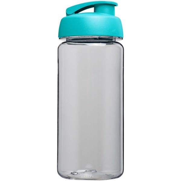 Sportovní láhev s vyklápěcím víčkem Octave Tritan™ 600 ml - Průhledná / Aqua blue