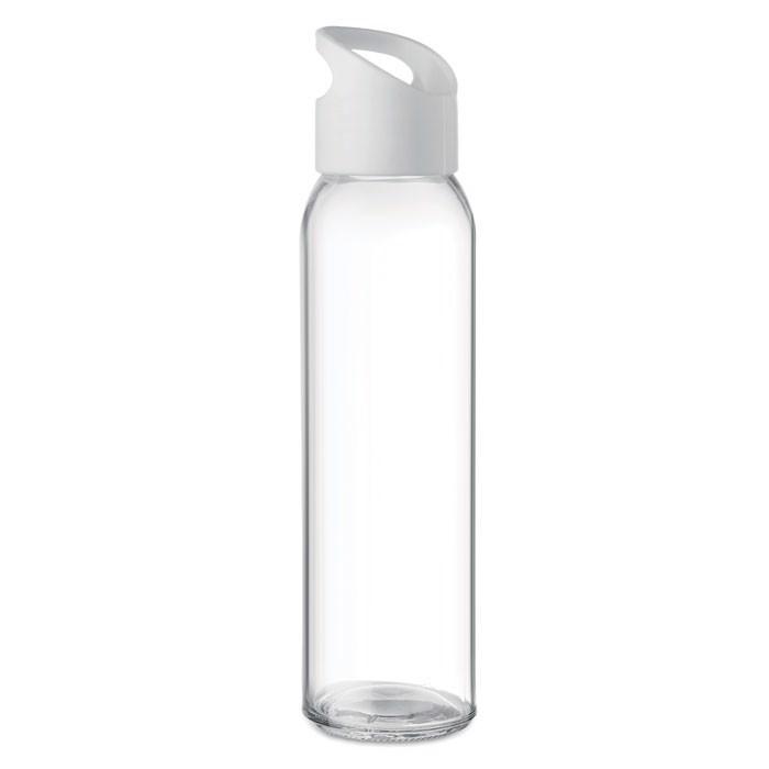Glass bottle 470ml Praga - White