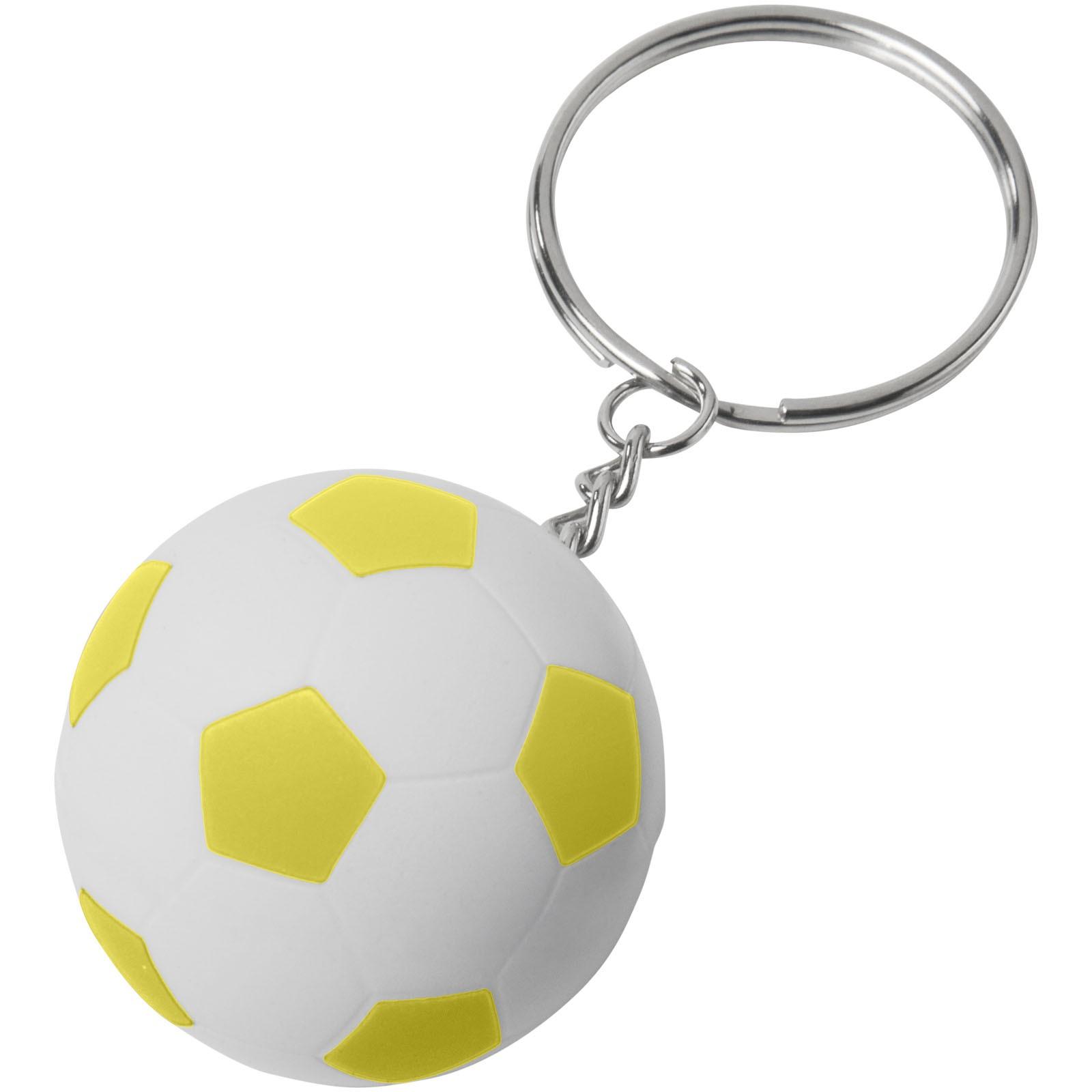 Fotbalový přívěsek na klíče Striker - Žlutá / Bílá