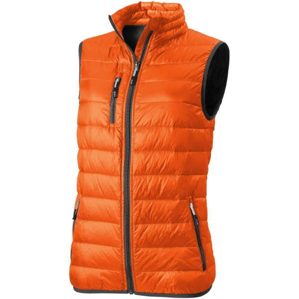 Fairview light down ladies bodywarmer - Orange / M