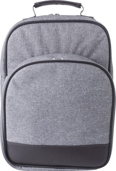 Polycanvas (600D) picnic cooler bag - Grey