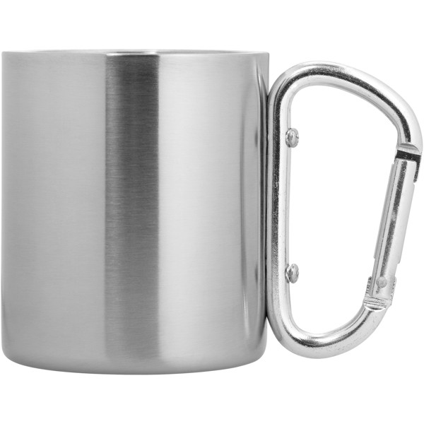 Alps 200 ml insulated mug with carabiner - Silver