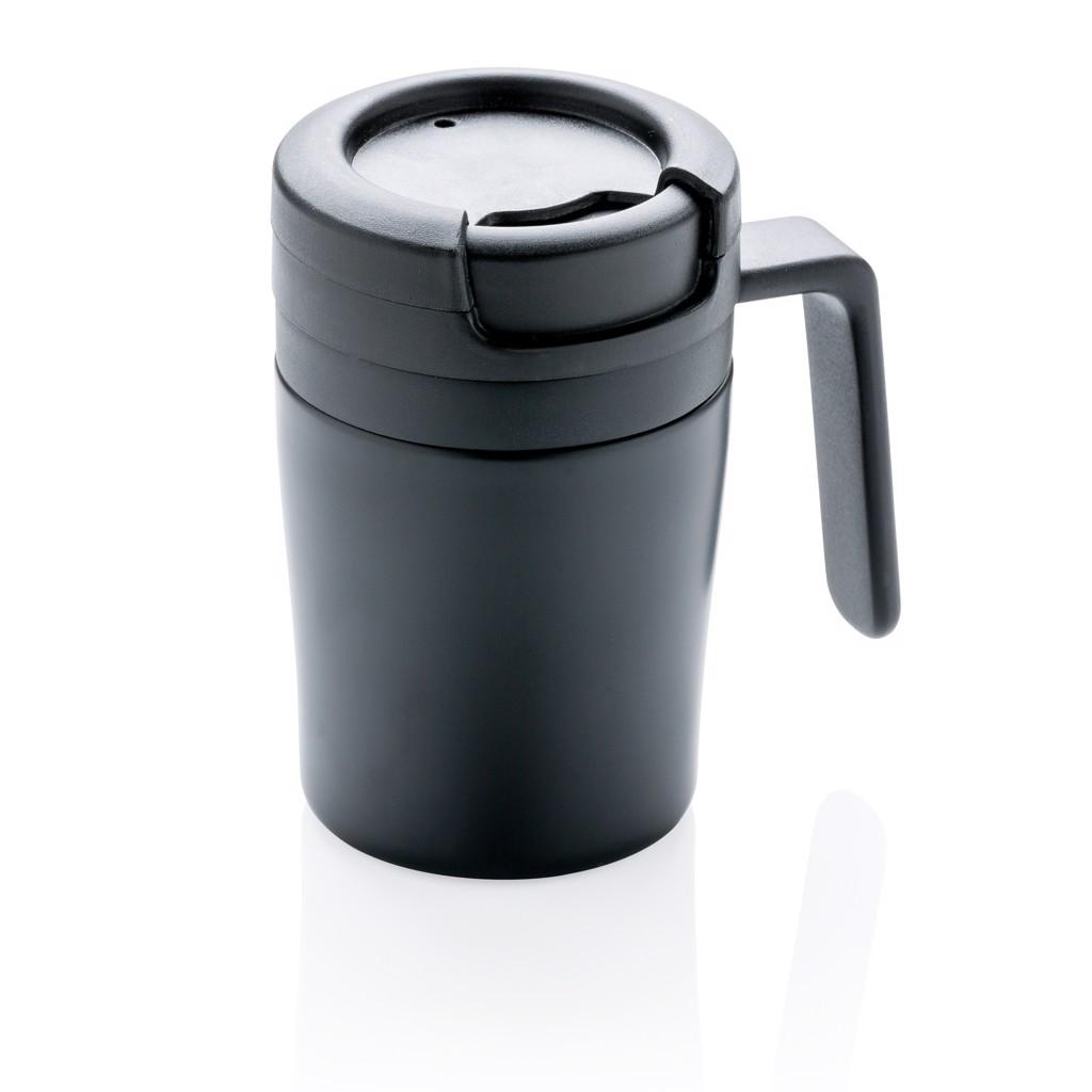 Termohrneček Coffee to go s ouškem - Černá