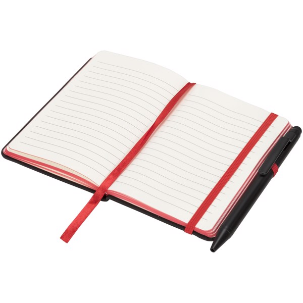 Noir Edge small notebook - Solid black / Red