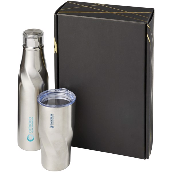 Hugo copper vacuum insulated gift set - Silver