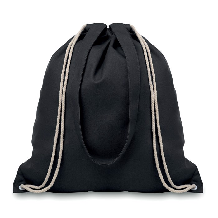 Drawstring and handles bag Moira - Black